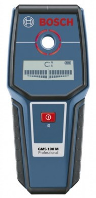 Bosch GMS 100 M Professional Детектор за напрежение метал 100 мм; мед 80 мм кабели 50 мм 0 601 081 100