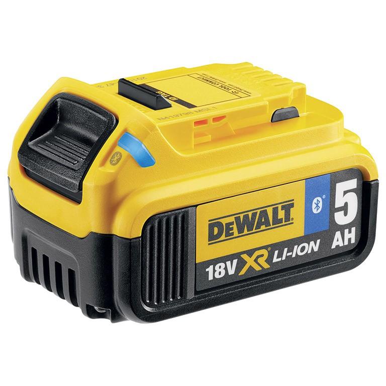 DEWALT DCB184B Батерия акумулаторна Li-Ion с Bluetooth 18.0 V, 5.0 Ah DCB184B XR