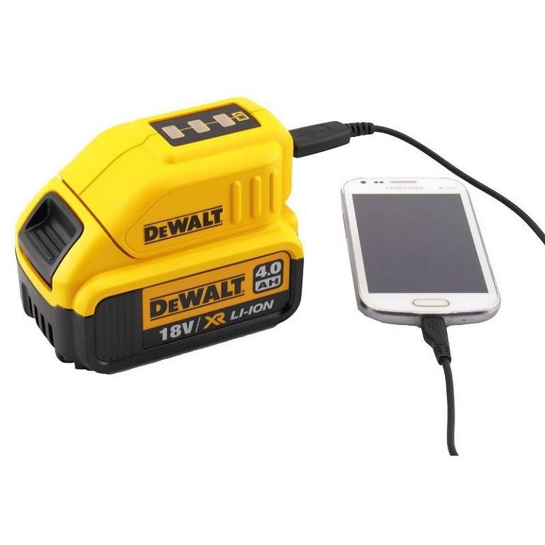 DEWALT DCB090 Адаптор за батерия USB 10.8-18.0 V DCB090