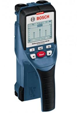 Bosch D-tect 150 SV Professional Детектор за напрежение за бетон метал и дърво D-tect 150 SV стомана 5.5 см; бетон 6.0 см кабели 1.5 см 0 601 010 008