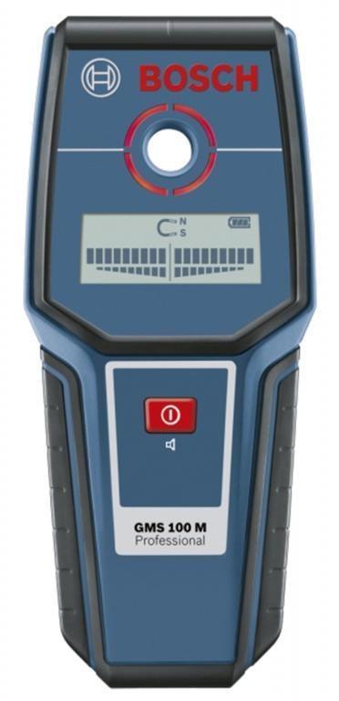 BOSCH GMS 100 M Детектор за напрежение GMS 100 M, метал 100 мм; мед 80 мм, кабели 50 мм GMS 100 M