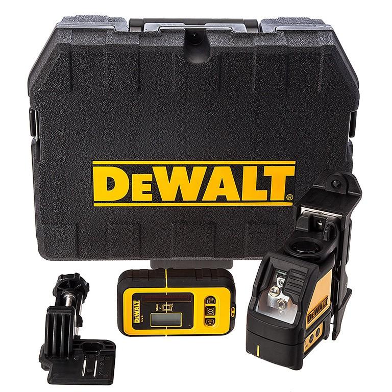 DEWALT DW088KD Нивелир лазерен линеен с приемник комплект 15.0 м, 0.3 мм/ 1 м DW088KD