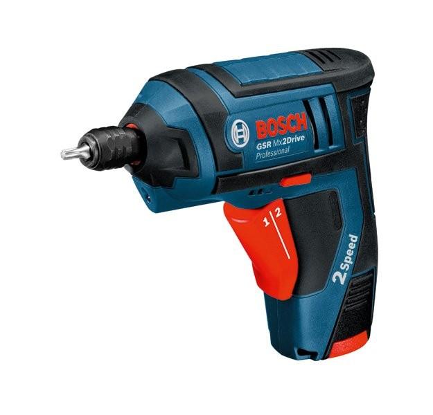 Bosch GSR Mx2Drive Professional Отвертка акумулаторна Li-Ion 3.6 V 1.3 Ah I/0-150 II/0-580 об. 10 Nm 0 601 9A2 101