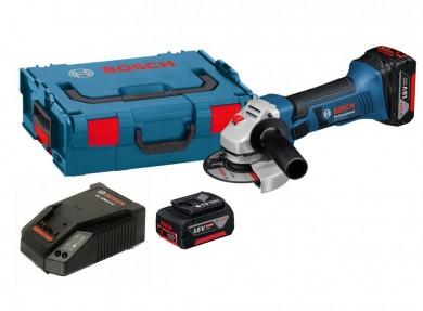 Bosch GWS 18-125 V-LI Professional Ъглошлайф акумулаторен Li-Ion 18.0 V 4.0 Ah 10000 оборота ф 125 мм 0 601 93A 30B