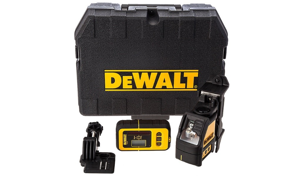 Нивелир лазерен линеен DeWALT DW088KD, 10.0 м, 0.3 мм/1 м с детектор к/кт